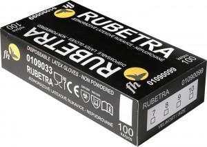 RUBETRA FH latex púderm. kesztyű
